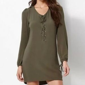 NWT Kendall & Kylie Green Lace Up Dress Size XS
